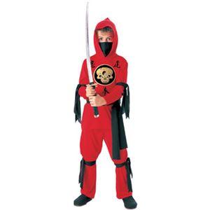 【コスプレ】 RUBIE'S(ルービーズ) 881039S Red Ninja レッド忍者 Sサイズ - 拡大画像