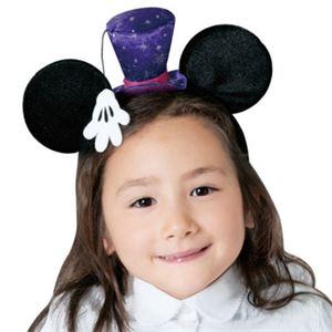 【コスプレ】 RUBIE'S(ルービーズ) 95036 Disney Headband Mickey Silk Hat シルクハット ミッキー - 拡大画像