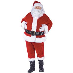 【コスプレ】Plsz Cmplt Velour Santa Suit 大人用(PLUS) - 拡大画像