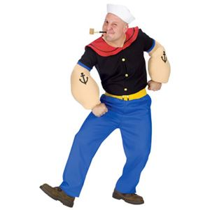 【コスプレ】Popeye Costume ADULT 大人用 - 拡大画像