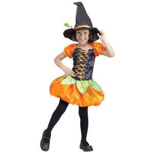 【ハロウィンコスプレ】パンプキン Sml Pumpkin Patch Witch Tdlr Cstm 子供用(Tod-S) - 拡大画像