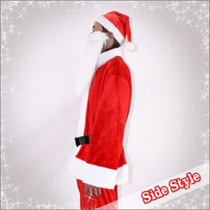 【クリスマスコスプレ】メンズサンタ Men's Santa costume RED PLUSH レッドの写真2