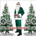 【クリスマスコスプレ 衣装】メンズサンタ Men's Santa costume GREEN VELVET グリーン