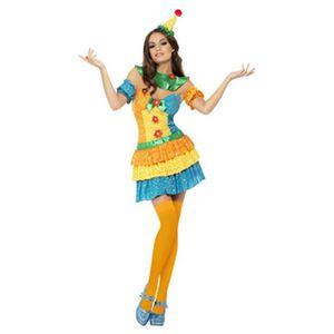 【コスプレ】Fever Colourful Clown Cutie Costume S 大人用 S - 拡大画像