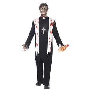 【コスプレ】Zombie Priest Costume M 大人用 M - 拡大画像