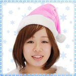【クリスマスコスプレ】 Patymo クリスマスサンタ帽子 ピンク