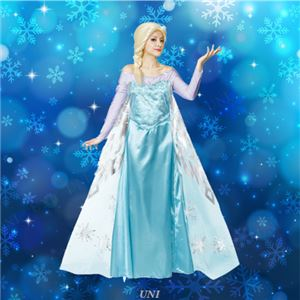 ディズニーコスプレ/コスプレ衣装 【Adult Elsa エルサ】 大人用 〔ハロウィン イベント〕の写真1
