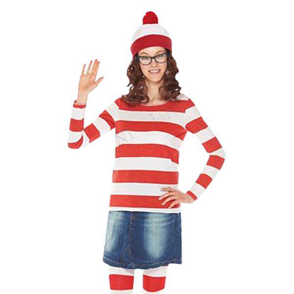 ウォーリーを探せ ウェンダ コスプレ衣装 大人用