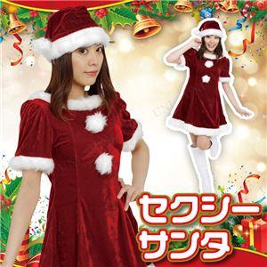 【クリスマスコスプレ 衣装】Patymo セクシーサンタ(レディースサンタコスチューム) - 拡大画像