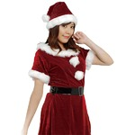 【クリスマスコスプレ 衣装】Patymo スウィートサンタ(レディースサンタコスチューム)