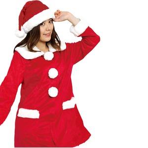 【クリスマスコスプレ 衣装】Patymo プリティサンタコート(レディースサンタコスチューム)の写真1