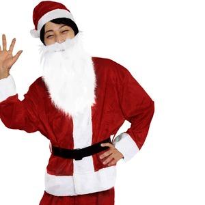 【クリスマスコスプレ 衣装】Men's Santa costume DK RED VELVET メンズサンタの写真1