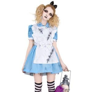コスプレ衣装/コスチューム 【Crazy Alice アリス】 レディース ポリエステル 〔ハロウィン イベント〕の写真1