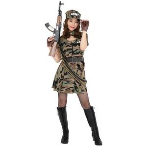コスプレ衣装/コスチューム 【Army Lady アーミーレディ】 ワンピース型 『CLUB QUEEN』 〔ハロウィン イベント〕