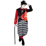 コスプレ衣装/コスチューム 【Joker Clown ジョーカークラウン】 ハット レッグカバー付 『CLUB KING』 〔ハロウィン イベント〕