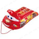 ディズニー カーズ型 エアーマット/玩具 【横約78cm×縦約120cm】 ロープ 取っ手付き 対象年齢6歳以上 〔庭 リビング〕