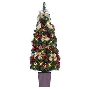 クリスマスツリー/オブジェ 【レッド】 120cmサイズ 『ポットツリー』 〔イベント パーティー〕