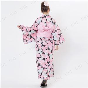 リボンリボンマイメロディ浴衣(結び帯付き2点セット)※ハンガー付き専用袋 ブラック(BK)