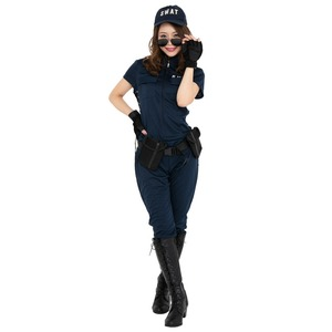 コスプレ衣装/コスチューム 【SWAT Lady スワットレディ】 ポリエステル 『CLUB QUEEN』 〔ハロウィン イベント〕
