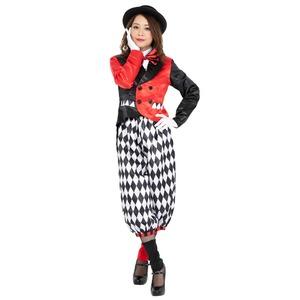 コスプレ衣装/コスチューム 【Joker Clown lady ジョーカークラウンレディ】 ポリエステル 『CLUB QUEEN』 〔ハロウィン〕