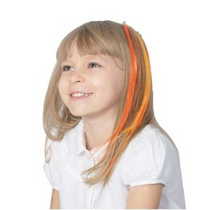 RUBIE'S (ルービーズ) 802953 Orange Hair Extension 8pcs - 拡大画像