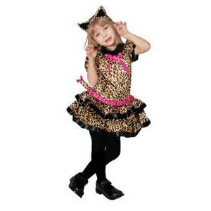 【コスプレ】 RUBIE'S (ルービーズ) Cutie Leopard(豹柄) 幼児サイズ - 拡大画像