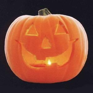 RUBIE'S(ルービーズ)HALLOWEEN(ハロウィン) 9inch Smiley Jack-O'-Lantern (LED)(9インチ スマイリー ジャック・オー・ランタン (LED)) - 拡大画像