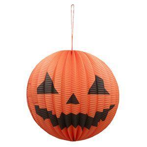 RUBIE'S(ルービーズ) HALLOWEEN(ハロウィン) Mini Pumpkin Paper Lantern 3PCS(ミニ パンプキン ペーパー ランターン3個入り) - 拡大画像