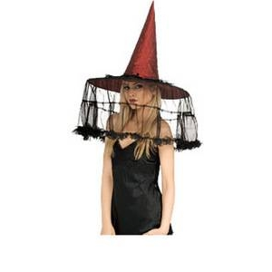 【コスプレ】 RUBIE'S (ルービーズ) BRGNDY WITCH HAT WITH FRENCH VEIL