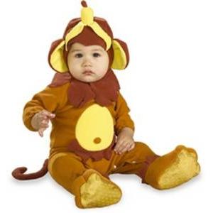 【コスプレ】 RUBIE'S (ルービーズ) Monkey See、Monkey Do(モンキー シー、モンキー ドゥー) Newbornサイズ - 拡大画像