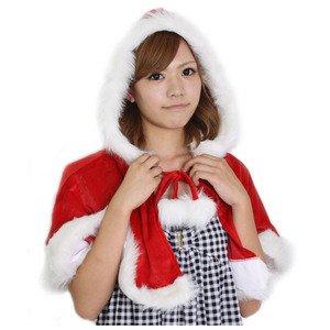 【クリスマスコスプレ】Patymo クリスマス フード付きケープ - 拡大画像