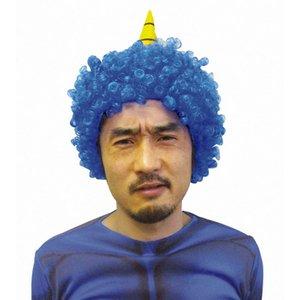 【コスプレ】鬼かつら 青 - 拡大画像