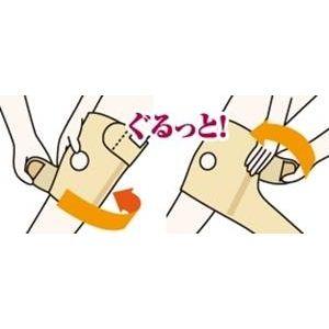 ひざの名医戸田先生開発!医療機関でも大絶賛 かるがる膝ベルト【2枚セット】 ベージュ M