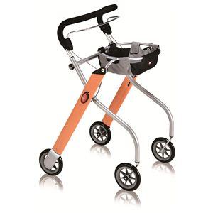 【快適介護用品】折りたたみ室内用歩行車 レッツゴー ウッドパターン - 拡大画像