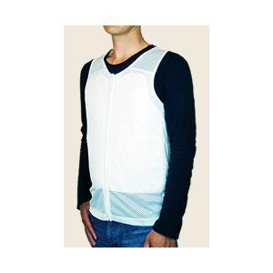 【耐刃防護生地】 京都西陣yoroi セーフティーインナーベスト 白 3L (胸ポケット付き)