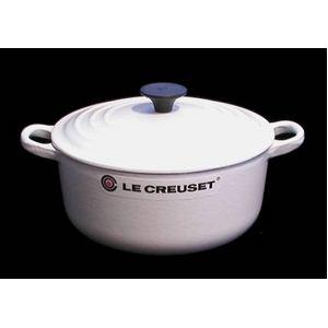 Le Creuset(ル・クルーゼ) 両手鍋 ココット・ロンド 20cm ホワイト - 拡大画像