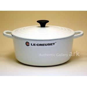 Le Creuset(ル・クルーゼ) 両手鍋 ココット・ロンド 18cm ホワイト - 拡大画像