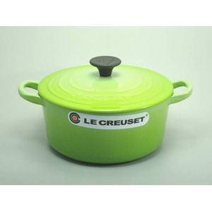 Le Creuset(ル・クルーゼ) 両手鍋 ココット・ロンド 22cm フルーツグリーン - 拡大画像