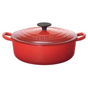 ル・クルーゼ (Le Creuset) 両手鍋  ココット・ジャポネーズ 24cm チェリーレッド(赤) - 拡大画像
