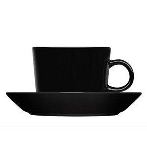 おしゃれでシンプルなテーブルウェア イッタラ ティーマ ティーカップ&ソーサーセット ブラック