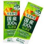 【まとめ買い】伊藤園 充実野菜 国産100%旬の野菜 200ml×24本(1ケース) 紙パック