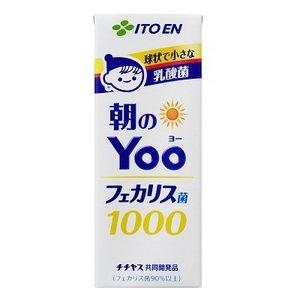 【まとめ買い】伊藤園 朝のYoo(ヨー)フェカリス菌1000 紙パック 200ml×48本(24本×2ケース)