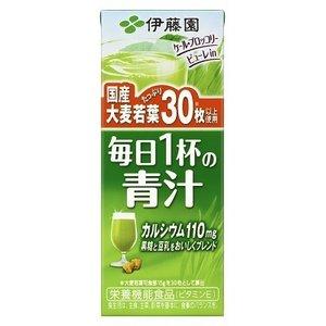 【まとめ買い】伊藤園 毎日1杯の青汁 紙パック 200ml×24本(1ケース) - 拡大画像