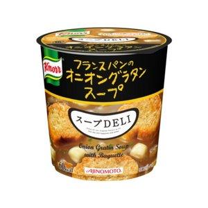 【まとめ買い】味の素 クノール スープDELI フランスパンのオニオングラタンスープ 15.7g×18カップ(3ケース)