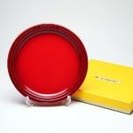 ル・クルーゼ (Le Creuset)  ラウンドプレート・LC 19cm チェリーレッド