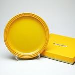 ル・クルーゼ (Le Creuset)  ラウンドプレート・LC 19cm ディジョンイエロー