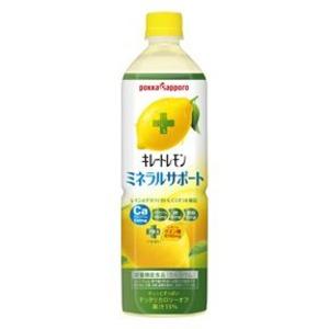【まとめ買い】ポッカサッポロ キレートレモン ミネラルサポート ペットボトル 900ml 24本入り【12本×2ケース】