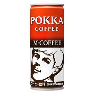 【まとめ買い】ポッカサッポロ ポッカコーヒー Mコーヒー 250g 缶 60本入り【30本×2ケース】
