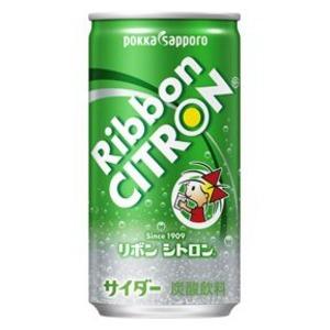 【まとめ買い】ポッカサッポロ Ribbon(リボン) シトロン 190ml 缶 30本入り(1ケース)