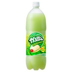 【まとめ買い】ポッカサッポロ がぶ飲み メロンクリームソーダ 1.5L ペットボトル 8本入り(1ケース) - 拡大画像